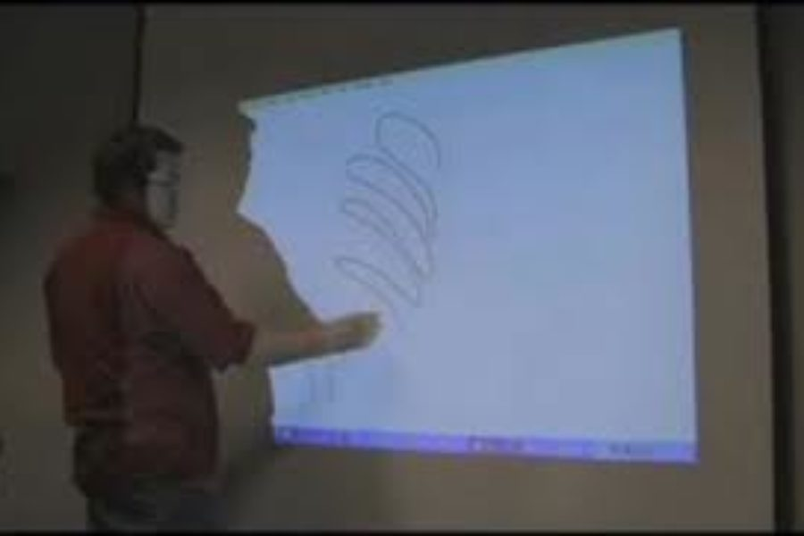 Turn a Projection into an Interactive Whiteboard with Wiimote