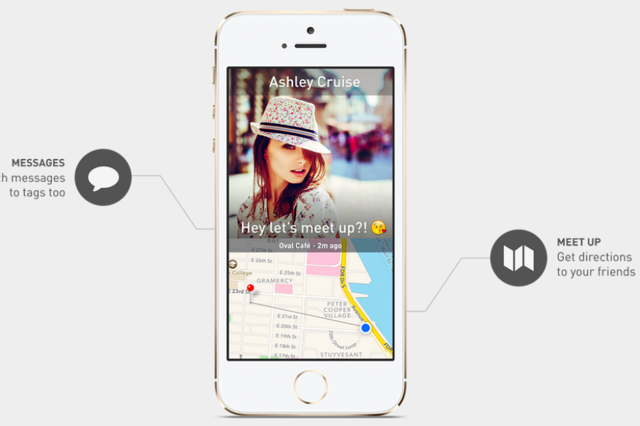 Marco Polo allows you to share your location with select friends