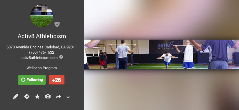 GOOGLE+ - Activ8 Athleticism