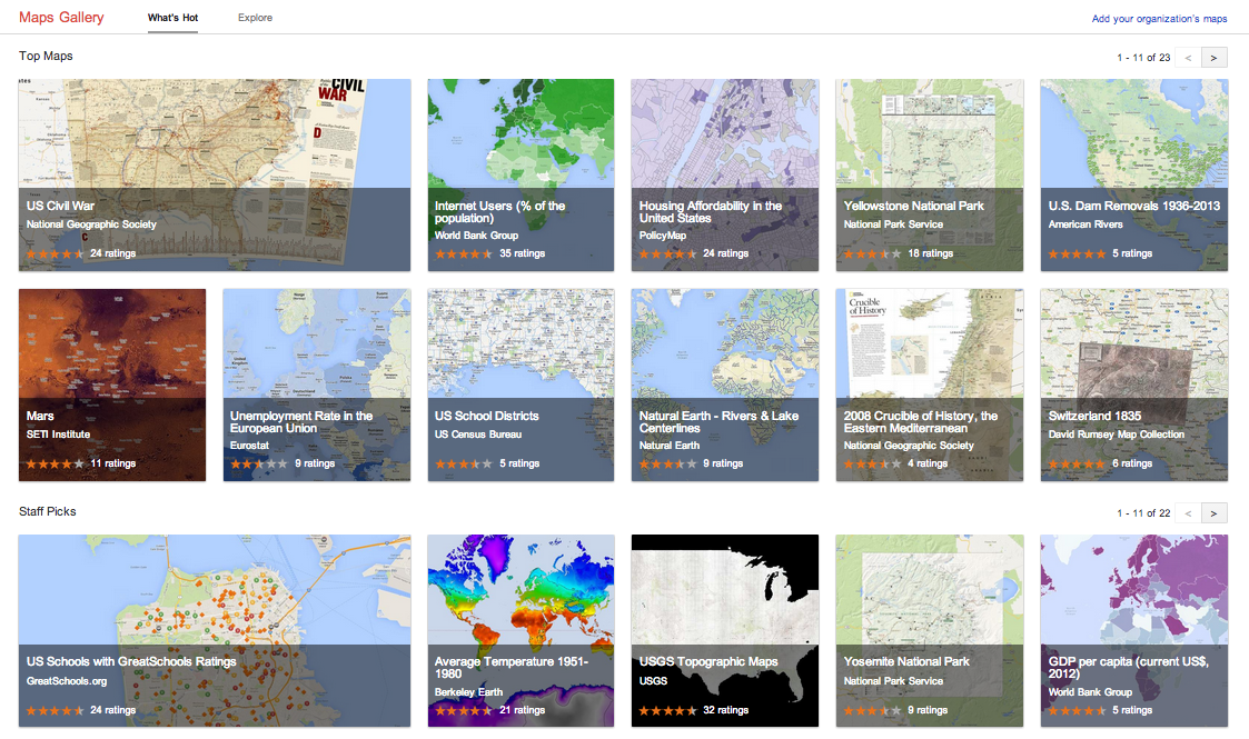 Google Maps gets interactive with Maps Gallery