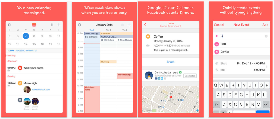 4 Great Calendar Apps for iPhone